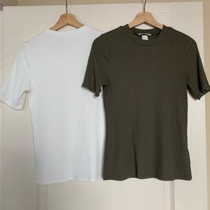 Two H&M tops